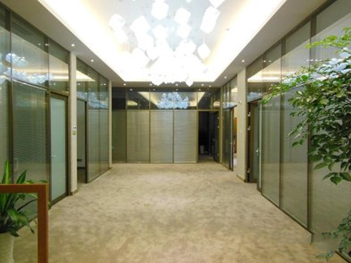 双层玻璃百叶隔断调光玻璃